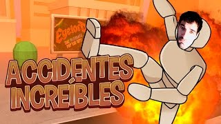 ACCIDENTES INCREÍBLES EN TURBO DISMOUNT | iTownGamePlay