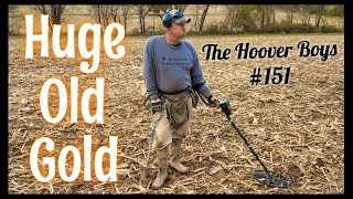 Metal Detecting Gold, 1700's Coins, and Relics at the BIG Farm   Huge Old Gold