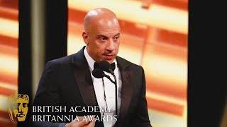 Vin Diesel's Heart-Warming Tribute to Jackie Chan | 2019 BAFTA Britannia Awards