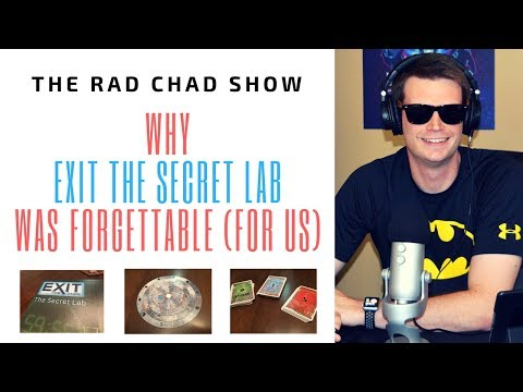 Why Exit the Secret Lab Was Forgettable (For Us)- The Rad Chad Show [Review]