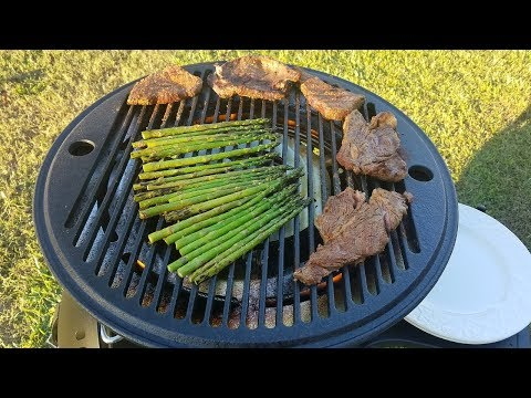 Coffee Rub Steak on the Fuego Element Grill