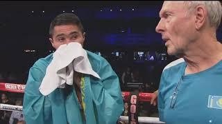 Нокдаун и лучшие моменты первого титульного боя казахстанца Нурсултанова