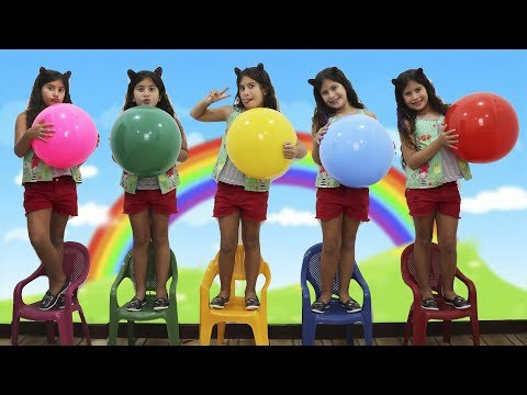 MARIA CLARA FOI CLONADA - Five little babies jumping on the bed song, learn colors