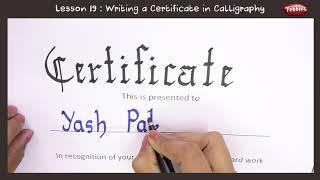 Certificate Written in Calligraphy Marker Pen   Beginners Calligraphy   Good Handwriting For Kids
