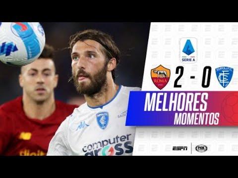 MKHITARYAN E PELLEGRINI MARCAM PARA A ROMA DE MOURINHO | Roma 2 x 0 Empoli no Italiano
