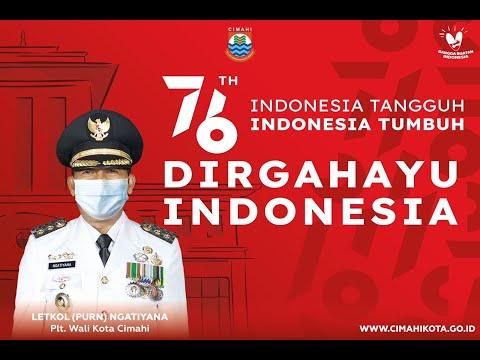 Upacara Peringatan HUT Ke-76 Kemerdekaan Republik Indonesia Tahun 2021 Tingkat Kota Cimahi