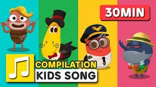 NEW! GREAT JOBS IN THE WORLD 2 | 30MIN | LARVA KIDS | SUPER BEST SONGS FOR KIDS | LEARN TO JOBS