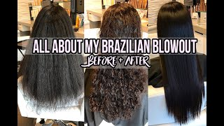 ALL ABOUT MY BRAZILIAN BLOWOUT - Experience & 1 Month Before And After