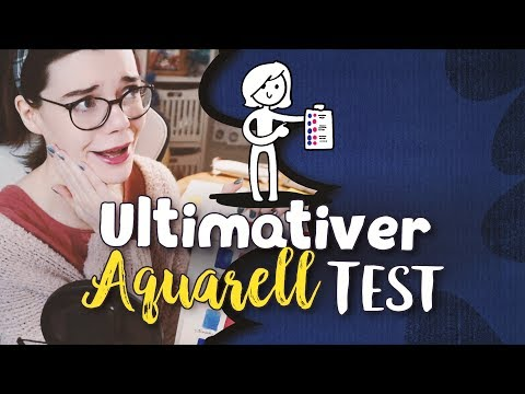 Der ultimative Aquarell Test 🎨 5 Watercolors vs. 8 Blöcke