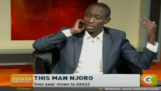 Power Breakfast: This Man Njoro The Comedian