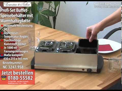 Profi-Set Buffet-Speisebehälter mit Warmhalteplatte (refurbished)