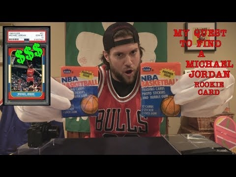 Guy finds a Michael Jordan rookie card.