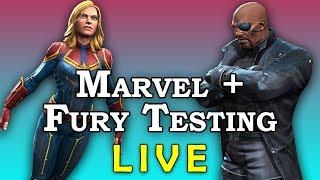 Captain Marvel + Nick Fury Testing LIVE | Marvel Contest of Champions Live Stream
