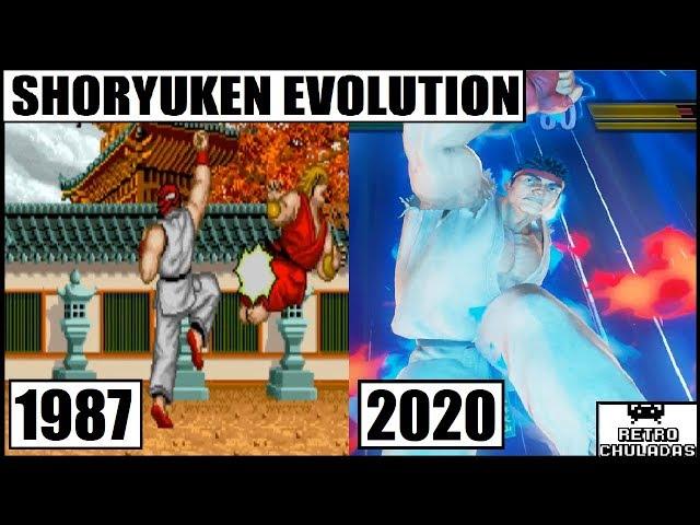 Shoryuken Evolution - Ryu Evolution - Street Fighter (1987 - 2020) / Shoryuken y Ryu Evolucion