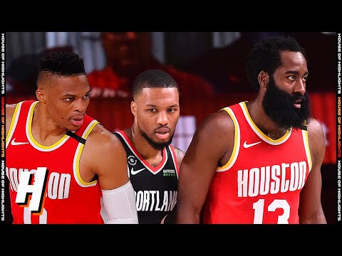 Houston Rockets vs Portland Trail Blazers – Full Game Highlights | August 4 | 2019-20 NBA Season