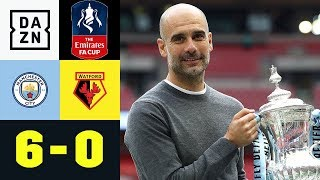 Pep Guardiola Führt City Zum Insel-Triple: Manchester City - Watford 6:0 | FA Cup | DAZN Highlights
