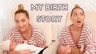 MY BIRTH STORY 😅 MEET MY SURPRISE 9.6 POUND BABY