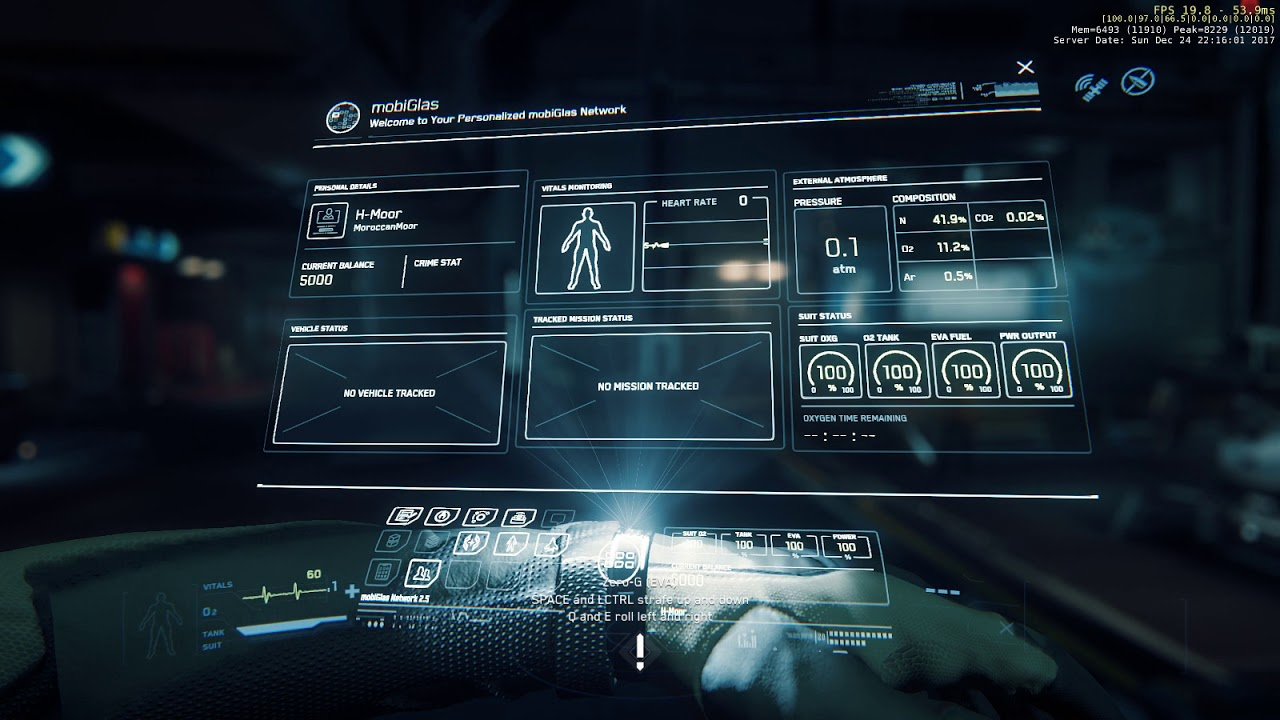 Star Citizen 3.0 Live - (Issue Council ) -mobiglass is invisible after sitting on chair #Bug