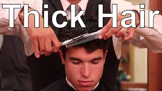 Side Part Hairstyle For Thick Wavy Hair - Greg Zorian Haircut Tutorial