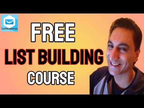 Get My New List Building Course For FREE