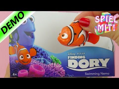 knuffiger Nemo - Findet Nemo und Dory Clownfisch |  Robo Fish im Wasser - Einfach schwimmen!
