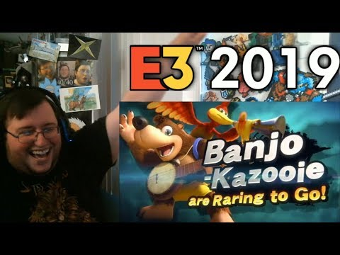 BANJO-KAZOOIE IS IN SMASH BROS. ULTIMATE!!!! REVEAL TRAILER - GROUP REACTION #E32019 (R.I.P. Adrian)