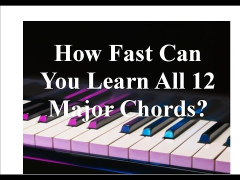Learn All 12 Major Piano Chords Fast
