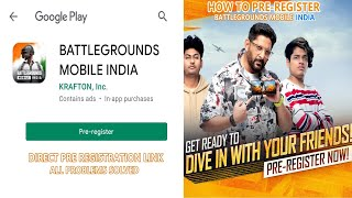 How To Pre Register Battleground Mobile India in Android | PUBG MOBILE INDIA PRE REGISTRATION Live - GROUND