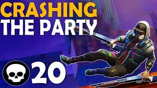 CRASHING THE PARTY | WHY NOT SNIPE? | 20 KILL SOLO VS DUO -(Fortnite Battle Royale)