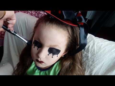 #HALLOWEN: Maquillaje de arlequin para niños super secillo facil