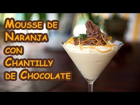 Mousse de Naranja con Chantilly de Chocolate