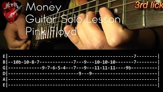 Money Guitar Solo Lesson - Pink Floyd (with tabs)