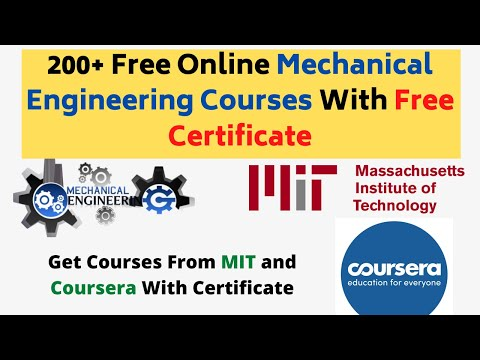200+ Free Online Mechanical Engineering Courses With Free ...