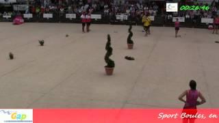 preview picture of video 'Les finales (fin) du 94ème Grand Prix Bouliste, Sport Boules, Gap 2014'
