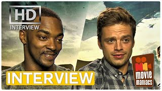 Себастиан Стэн, Captain America 2 | Winter Soldier vs. Falcon EXCLUSIVE Interview (2014)