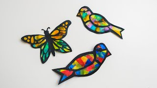 Paper Stained Glass Animals   Paper Craft Activity   Zart Art