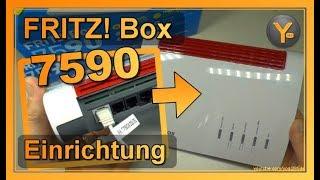AVM FRITZ! Box 7590: DSL-Zugang verkabeln & einrichten