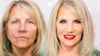 Holiday Look On 60+ Model | Glam At Every Age! | Makeup For Mature Skin Babes
