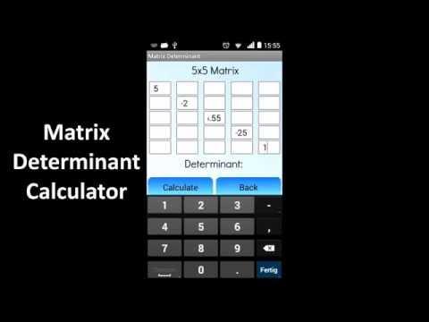 Video of Matrix Determinant Calculator
