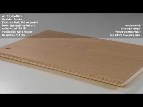Parador  Holzparkett Eiche weiß rustikal M4V Fertig-Parkett in Landhausdielen-Optik, naturgeölt weiß