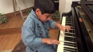 Amazing Indian Child Pianist Sam (9 yrs) Chennai