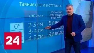 """""""Погода 24"""": оттепель привела к серьезным проблемам - Россия 24"""