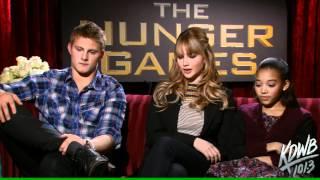 KDWBs Falen Interviews Alexander Ludwig, Jennifer Lawrence & Amandla Stenberg From The Hunger Games