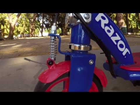 Razor Spider-Man Power Core E90 Electric Scooter Ride Video