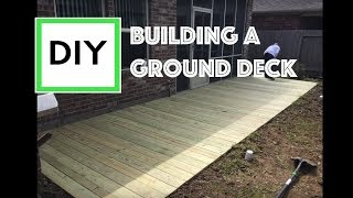 DIY For Beginners: How To Build A Ground Level Deck (with Instructions And Time Lapse)
