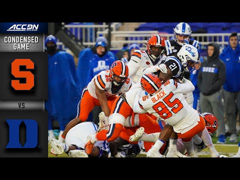 Syracuse vs. Duke Condensed Game | ACC Football (2019-20)