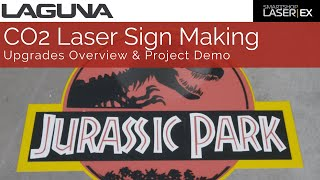 Jurassic Park Sign Making On A CO2 | How to Easily Make A Sign On A CO2 Laser
