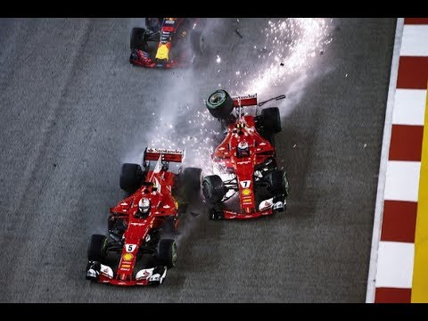 Image: WATCH: Rewind to THAT Verstappen/Raikkonen/Vettel crash at Singapore GP 2017