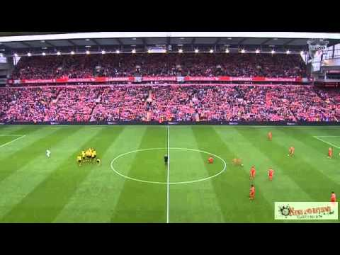 Liverpool and Borussia Dortmund fans unite to sing You'll Never Walk Alone at Anfield new