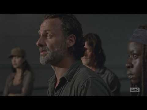The Walking Dead - Rick & King Ezekiel Scene , Season 7 Episode 9 HD